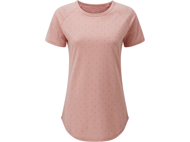 tentree Print Raglan T-Shirt Femme, quartz pink heather/small tree all over print